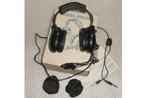 810.50, NEW!! Acoustic Dynamics Aviation Headset with Microphone