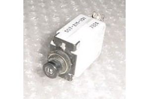 MS25244-15, 507-215-101, 15A Wood Electric Circuit Breaker