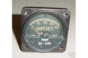 Aircraft Prop De-Icer Amps Indicator, FS-40A