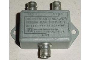 S-2212-1, CI-1102-TNC, Cessna VOR Antenna Coupler / Splitter