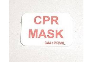Mc Douglas DC-9 Flight Attendant Station CPR Mask Decal 3441PRWL
