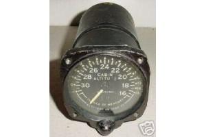 13050-10, Vintage Airliner Cabin Altitude Selector Indicator