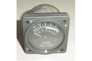 Aircraft Carburetor Air Temperature Indicator, 0202-009