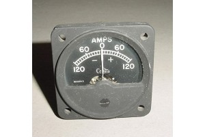 CM2627L1, FLD4-20329-3, Cessna Aircraft Ammeter, Amps Gauge