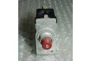 PSM-5, 454-648, 5A Klixon PSM Series Aircraft Circuit Breaker