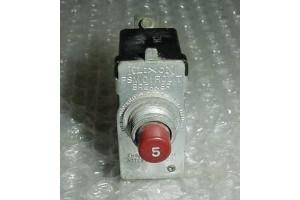 PSM-5, W23X1A1G-5, 5A Klixon PSM Series Aircraft Circuit Breaker