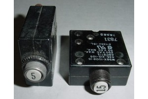 435-205-105, 435-215-105, Aircraft 5A and 15A Circuit Breakers