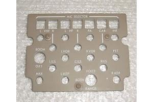 S233T100-5505, New Aircraft Audio Control Panel EL Lightplate