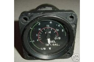 PW2266FG/BR,PW2266FG-BR, Vintage Warbird Fuel Quantity Indicator