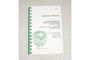 Photogrammetric and Inertial Guidance System Operator Manual