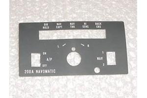 Cessna 200A Navomatic Autopilot Faceplate Decal, 42632-00010