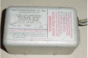 A490 T-DF-M-28, 481-184, Whelen Strobe Light Power Supply