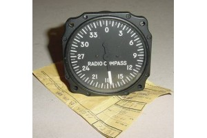 2330A, F-86 Sabre Jet Radio Magnetic Compass Indicator w Srv tag