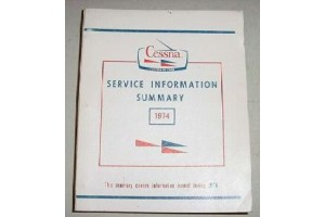 1974 Cessna Service Information Summary Manual
