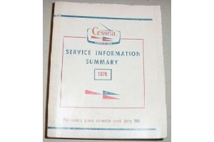 1978 Cessna Service Information Summary Manual