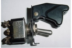 MS35058-23, AN3021-3, Two Position Toggle Switch w/ Switch Guard