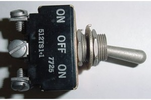 512TS1-1, MS35059-21, Three Position Aircraft Toggle Switch