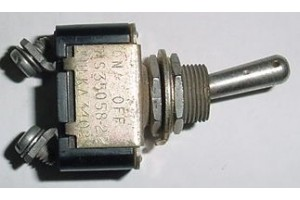 MS35058-22, 511TS1-2, Two Position Aircraft Toggle Switch