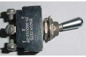8906K2375, 35-380053-29, Beech Bonanza 3 position Toggle Switch