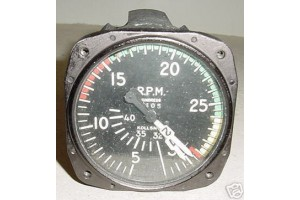 Antique WWII Warbird Multi Engine Tachometer Indicator, 740-CK