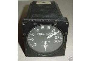 593-4937-00, Twin Engine Fuel Flow Indicator, 6300-B17B-100-A4