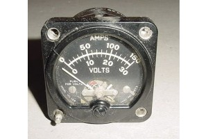 2 in 1 Amps Volts, Ammeter Voltmeter Indicator, 14873, Model 128