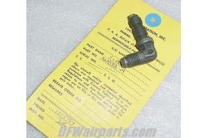 AN833-4, 4730-00-720-0288, Aircraft Bulkhead Elbow w/ Serv tag