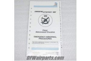 65C7CL04EAP, 65C7CL04-EAP, Citation VII Emergency Checklist
