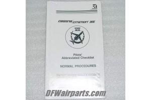 Nos Cessna Citation VII 650 Pilot Checklist Manual