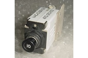 492-210-102, BACC18R10B, 10A Wood Electric Circuit Breaker