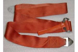 Aircraft Seat Belt Shoulder Harness Strap, Brick Red color