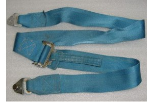Aircraft Seat Belt Shoulder Harness Strap, Blue color