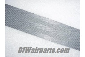 Aircraft Seat Belt Webbing / Medium Gray color