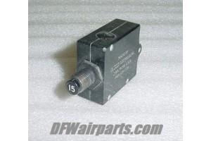 498-215-102, S1232-215, Cessna Aircraft 15A Circuit Breaker