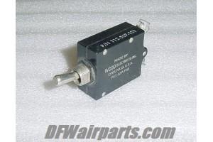 112-507-101, W31X2M1G7.5, 7.5A Aircraft Circuit Breaker Switch