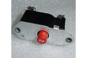 43A8304-2, PSM-2, 2A Klixon PSM Series Aircraft Circuit Breaker
