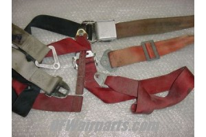 Lot of Aircraft Seat Belts / Shoulder Harness Straps Hardware
