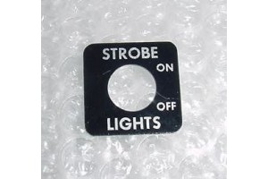 202953-1, Aircraft Strobe Light Cockpit Switch Placard