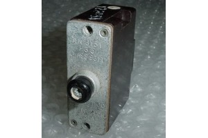 AN3161-P35, D6751-2-35, Vintage 35A Aircraft Circuit Breaker