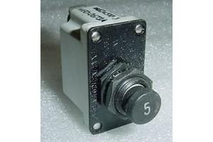 MS24510-5, D7271-8-5, Klixon 5A Aircraft Circuit Breaker