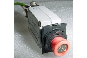 7274-53-7.5, 7274-53-7 1/2, 7.5A Slim Klixon Circuit Breaker