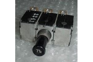 MS14154-7.5L, MS14154-7 1/2L, 7.5A Aircraft Circuit Breaker