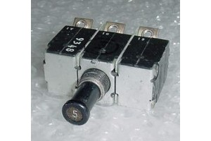 MS14154-5L, 4330-007-5, Three Phase 5A Aircraft Circuit Breaker
