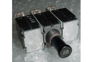 MS14154-20L, 4330-007-20, 20A Aircraft Circuit Breaker