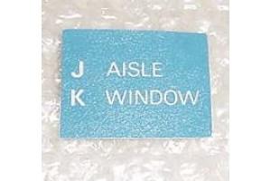 A15541-105, A-15541-105, Boeing 767 Aircraft Cabin Seat Placard
