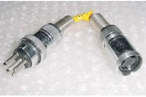 Aircraft Amphenol Avionics Plug Connector Jumper Cable
