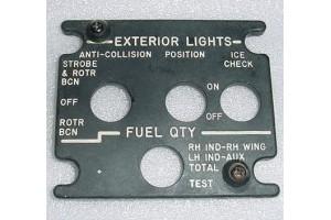 369-540155-21, Falcon 20 Exterior Lights EL Lightplate Panel
